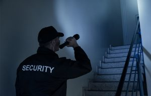 What do security guards do on patrol